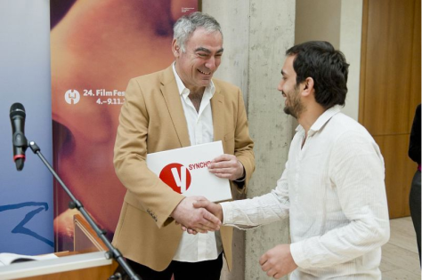 The Croatian producer Ivan Kelava (inset) as well as the filmmaker Sami Mustafa (Kosovo / France, on the right) were allowed to take yesterday as part of the East European Brunch claim their prizes.